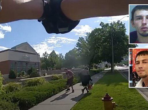 شاهد .. مخمور يهدد بذبح امرأة رهينة بالسكين وشرطي أمريكي يقتله بـ 10 رصاصات