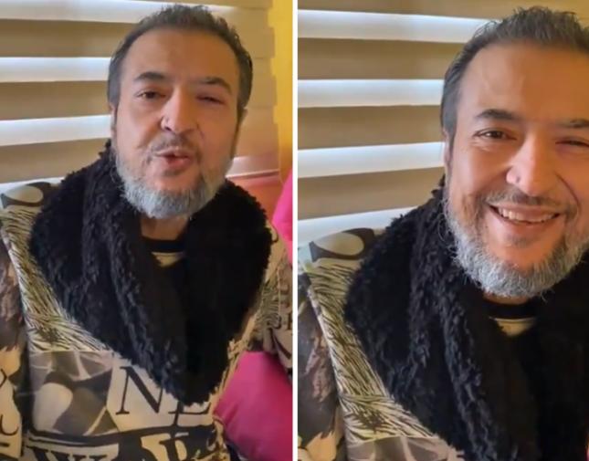 شاهد الظهور الأول للفنان خالد سامي مع زوجته بعد عملية زراعة الكبد